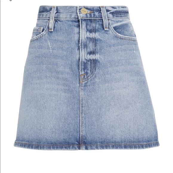 Frame Denim Dresses & Skirts - Frame Le Mini majorelle Denim Skirt NWT